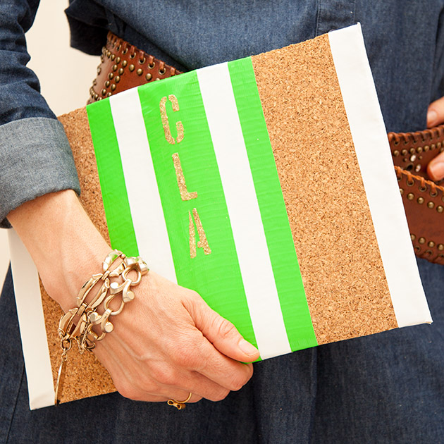 DIY Cork Clutch Tutorial