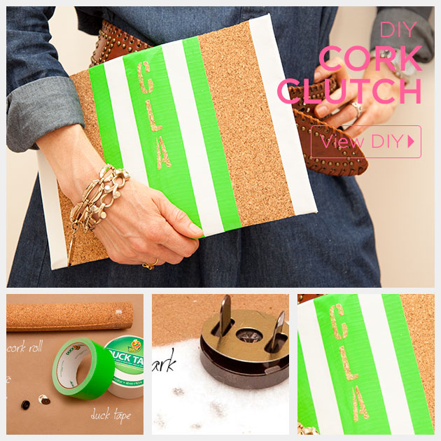 DIY Cork Clutch by Trinkets in Bloom