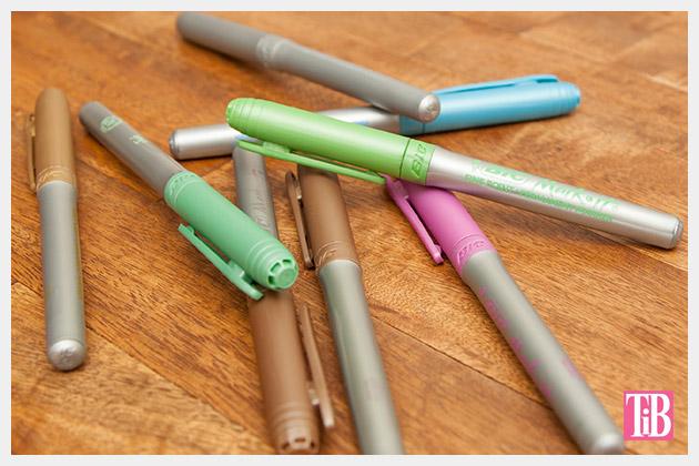 Doodle Flip Flops Bic Mark-it Metallic Markers pens