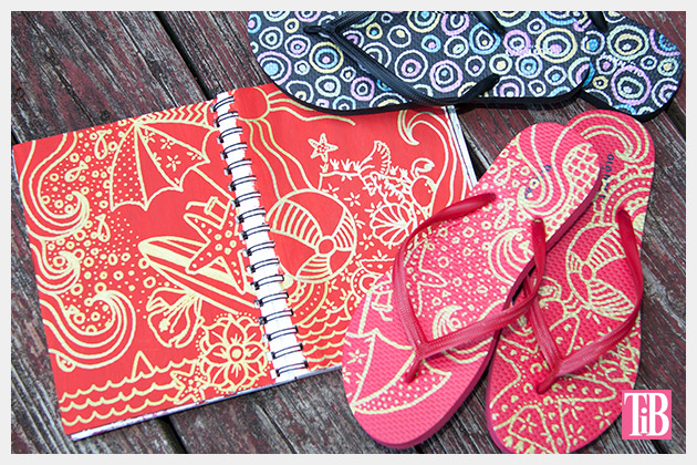 Doodle Flip Flops using Bic Mark-it Metallic Markers Pic 3