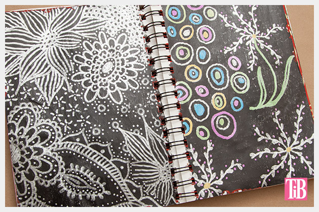 Doodle Flip Flops Bic Mark-it Metallic Markers sketchbook 1