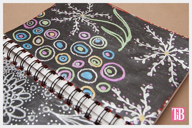 Doodle Flip Flops Bic Mark-it Metallic Markers sketchbook 2