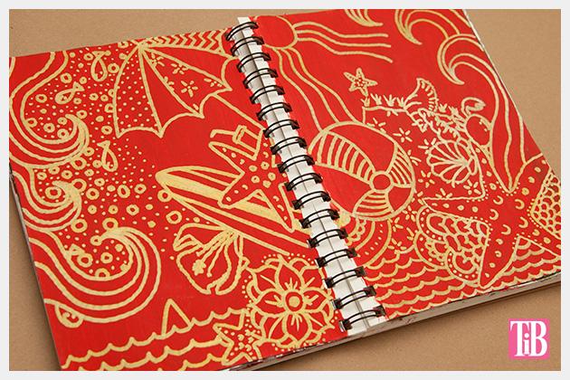 Doodle Flip Flops Bic Mark-it Metallic Markers sketchbook 3