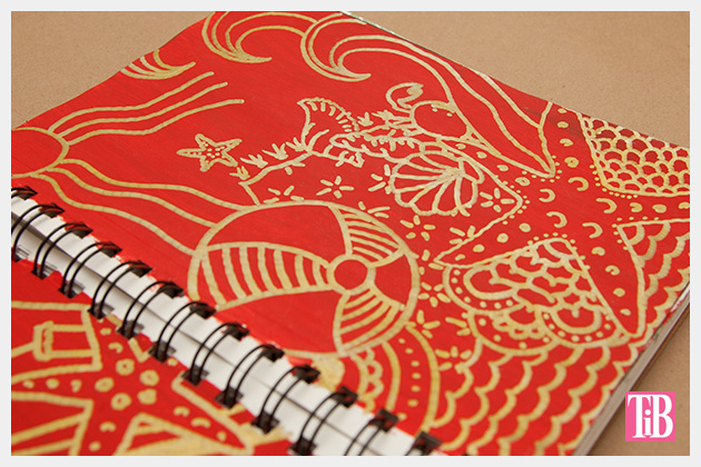Doodle Flip Flops Bic Mark-it Metallic Markers sketchbook 4