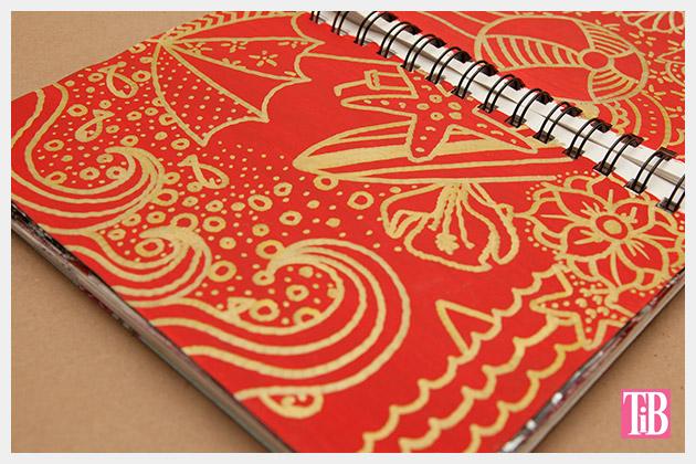 Doodle Flip Flops Bic Mark-it Metallic Markers sketchbook 5