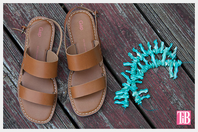 Embellished Sandals DIY Supplies