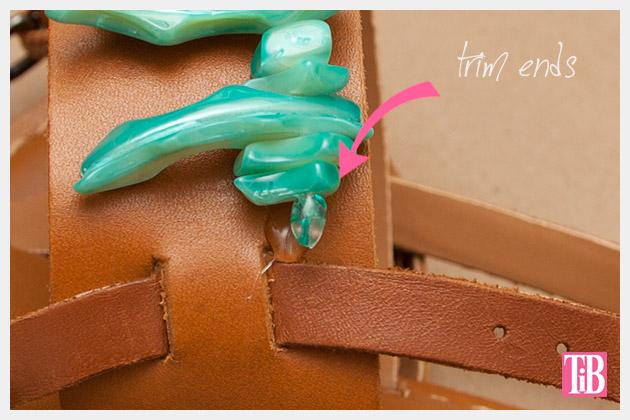 Embellished Sandals DIY Trim Ends