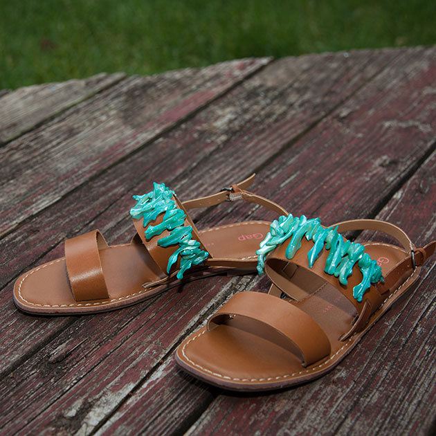 DIY Embellished Sandals Tutorial