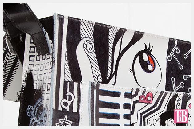 Graffiti Bag Inside Front Detail