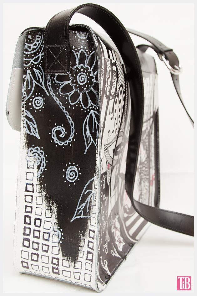 Graffiti Bag Side View Detail