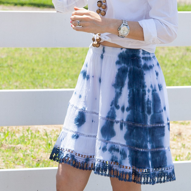 Cobalt Tie Dye Skirt DIY Tutorial