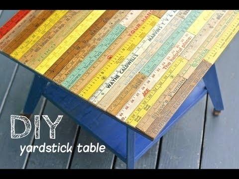 DIY Yardstick Table