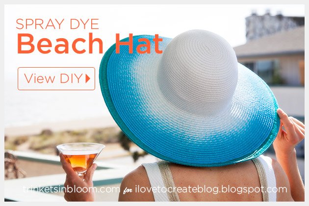 Spray Dye Beach Hat DIY Tutorial by Trinkets in Bloom
