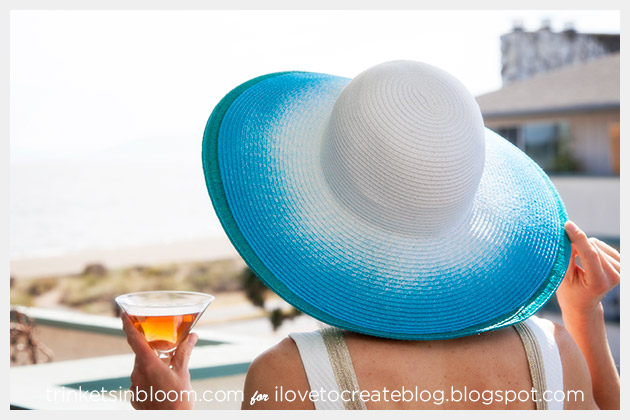 Spray Dye Beach Hat DIY Photo 1