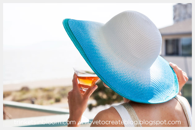 Spray Dye Beach Hat DIY Photo 2