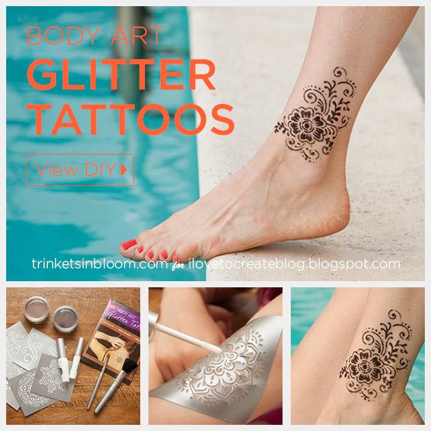 Body Art Glitter Tattoos Feature by Trinkets in Bloom