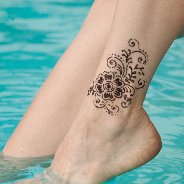 Henna Inspired Glitter Tattoos Body Art