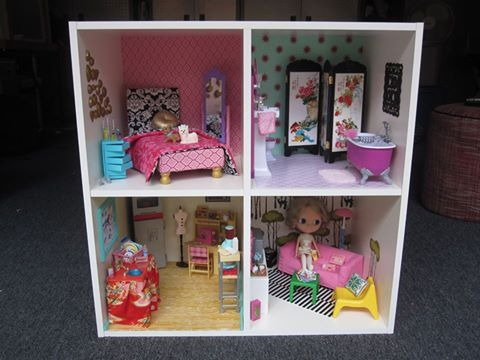 DIY Modern Bookshelf Dollhouse