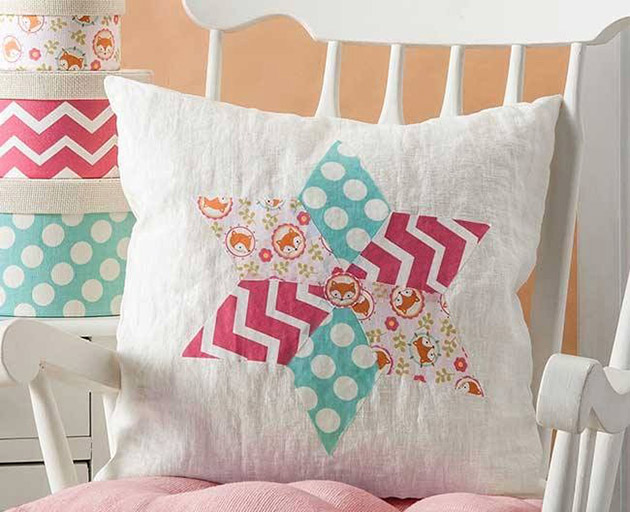 Faux Quilted Pillow by Cathie Filian