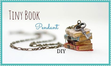 Tiny Book Pendant DIY
