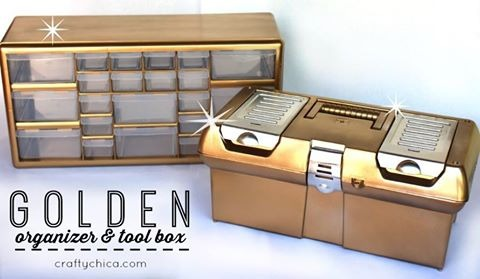 Golden Organizer and Tool Box