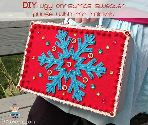 DIY Ugly Christmas Sweater Purse by Margot Potter
