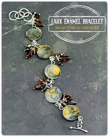 DIY Faux Enamel Bracelet by Margot Potter