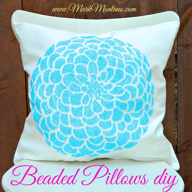 Beaded Pillows DIY by Mark Montano