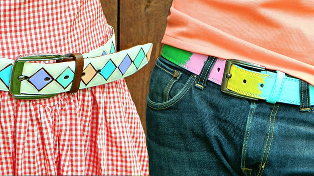 Painted Belts by Mark Montano