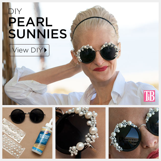 DIY Pearl Sunglasses Tutorial by Trinkets in Bloom