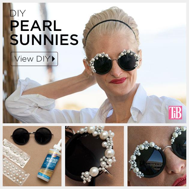 DIY Pearl Sunglasses Tutorial by Trinkets in Bloom
