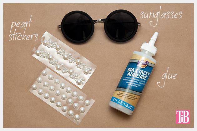 DIY Pearl Sunglasses Supplies