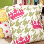DIY Stenciled Pillows Tutorial