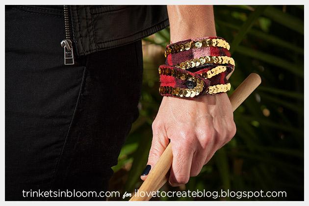 DIY Sequin Cuffs Photo 1