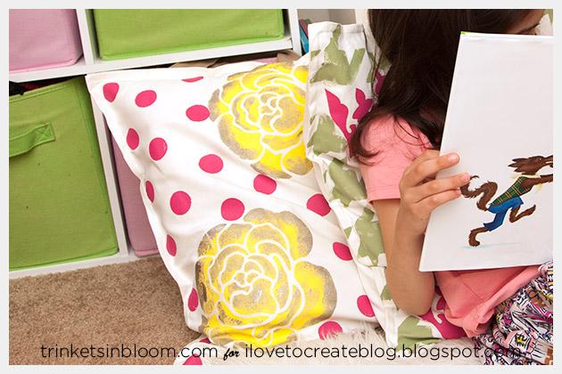 DIY Stenciled Pillows Photo