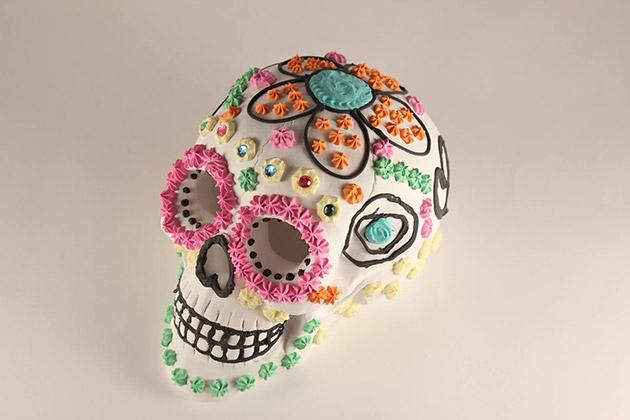 DIY Faux Sugar Skulls with Collage Clay by Mod Podge | Cathie Filian #ThursDIY