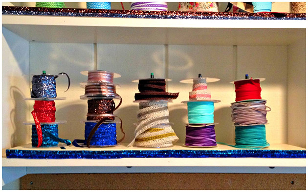 Cheap and Easy Ribbon Organizer by Dollar Store Crafts