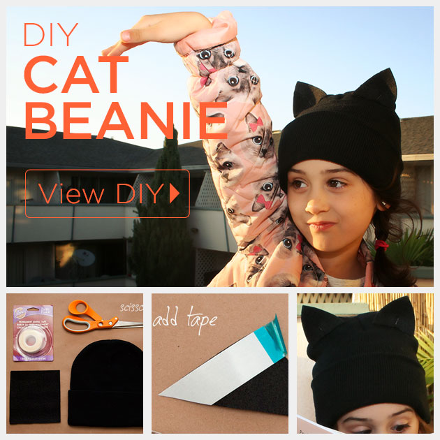 DIY Cat Beanie by Trinkets in Bloom