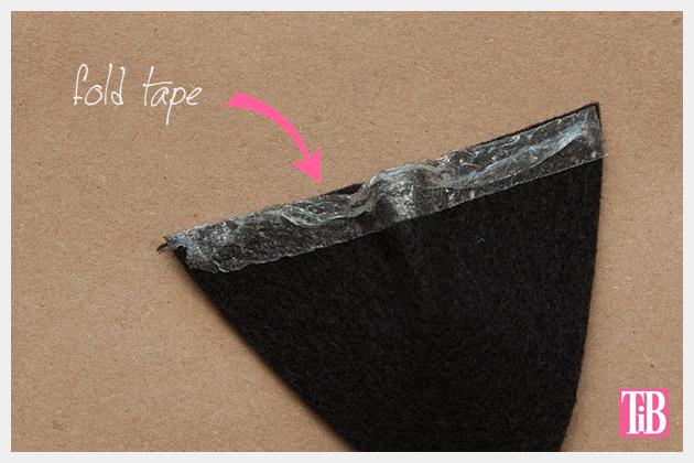 DIY Cat Beanie folding tape