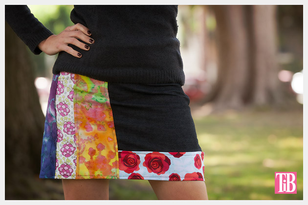 DIY Patched Skirt | Trinkets in Bloom