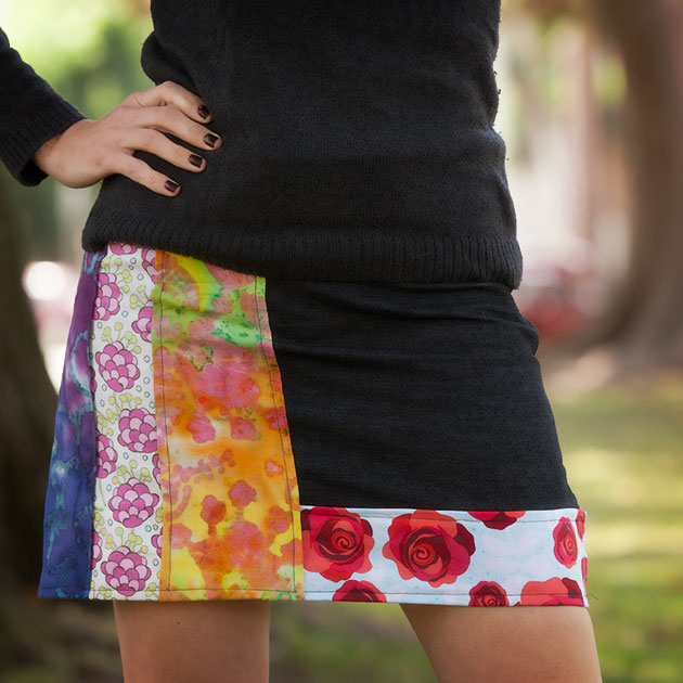 DIY Patched Skirt Tutorial