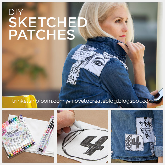DIY Sketched Patches by Trinkets in Bloom