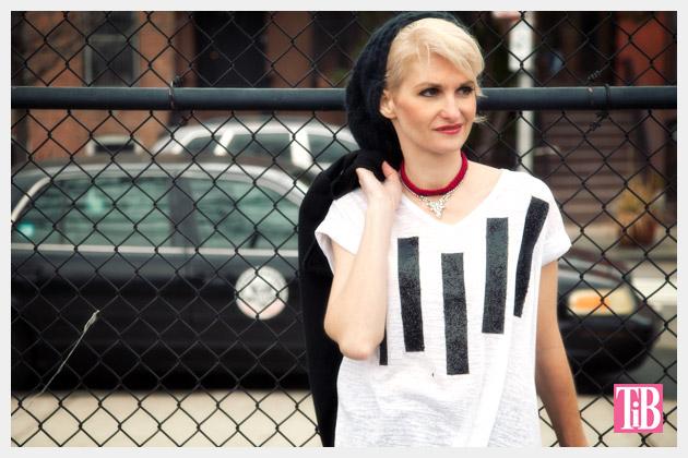Striped Glitter T-Shirt DIY by Trinkets in Bloom