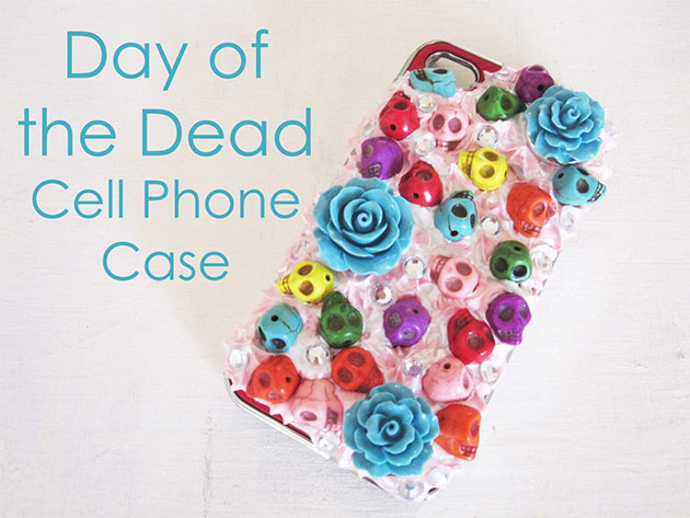 Day of the Dead Cell Phone Case by Cathie Filian