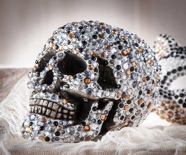 Decoden Rhinestone Skull by Cathie Filian