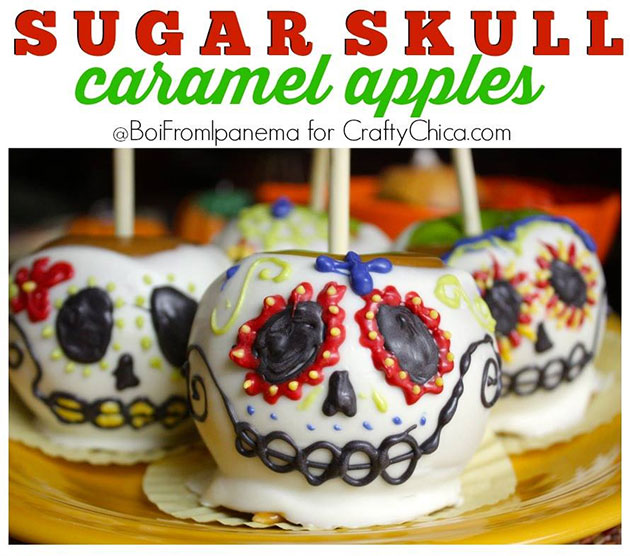 Sugar Skull Caramel Apples by Crafty Chica