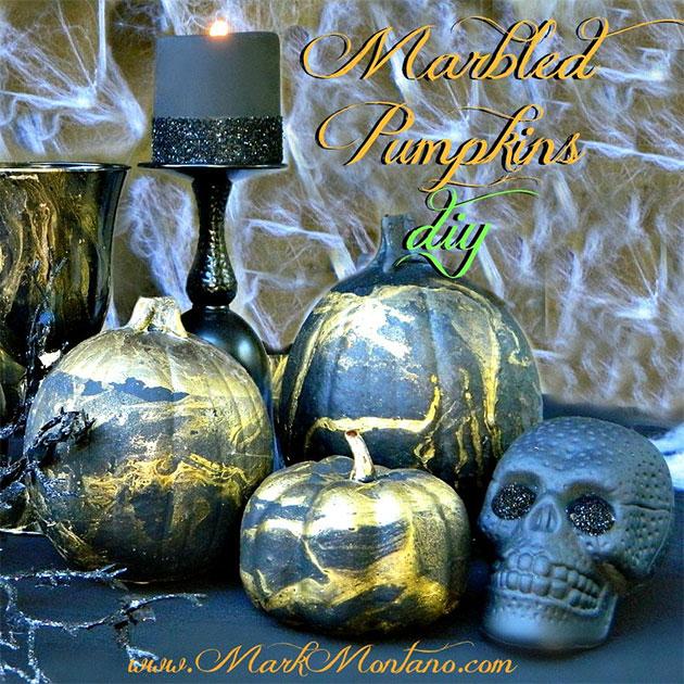 Marbled Pumpkins DIY by Mark Montano