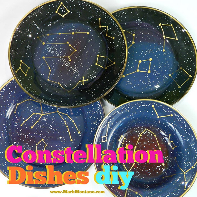 Constellation Dishes DIY by Mark Montano