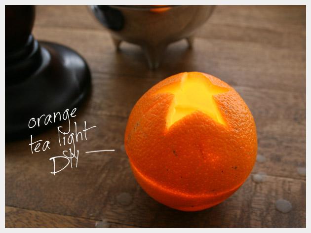 Orange Tea Light DIY by Trinkets in Bloom
