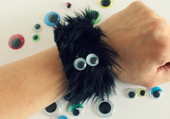 Furry Monster Googly Eye Bracelets by A Little Craft in Your Day